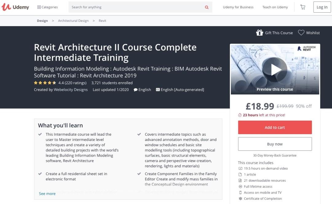 Revit Intermediate course