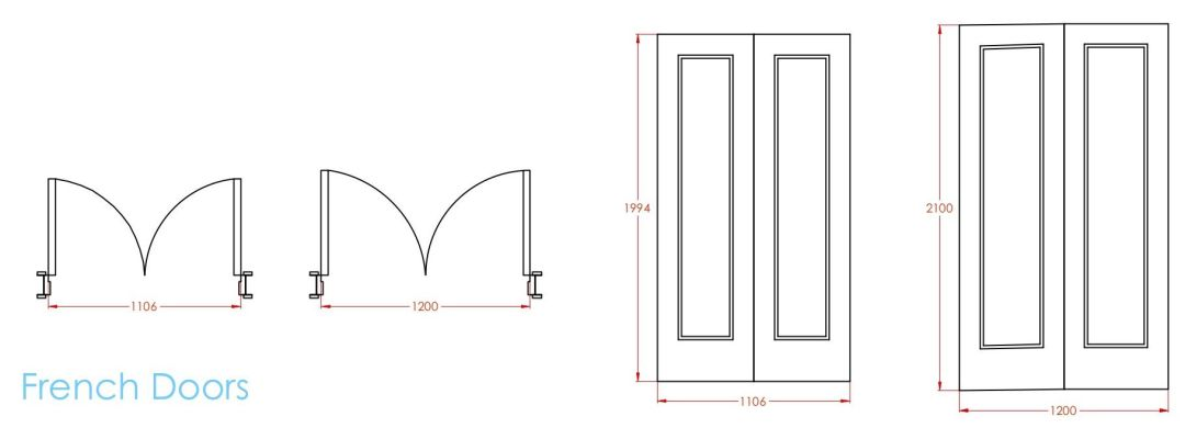 Standard french door sizes 2
