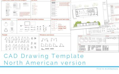 CAD Drawing Template Download North American version