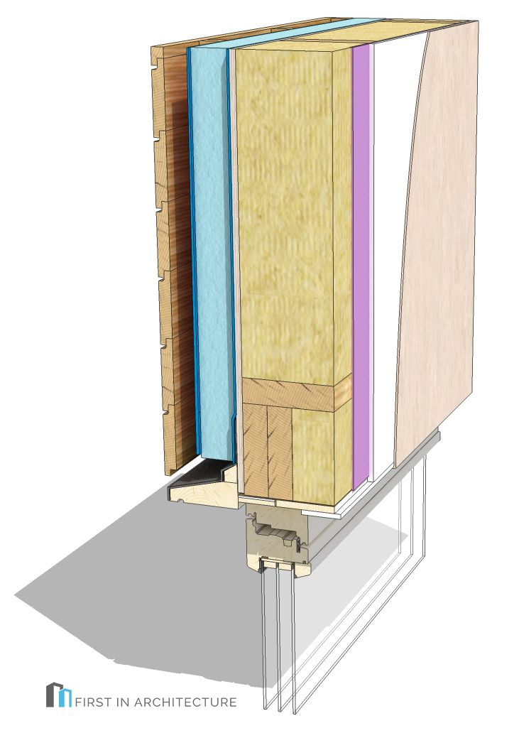 Timber Frame Window head detail