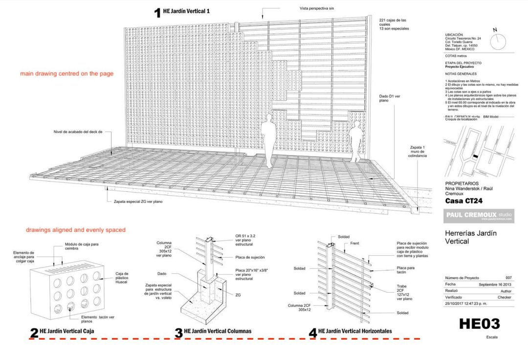 Architecture technical drawing layout 03