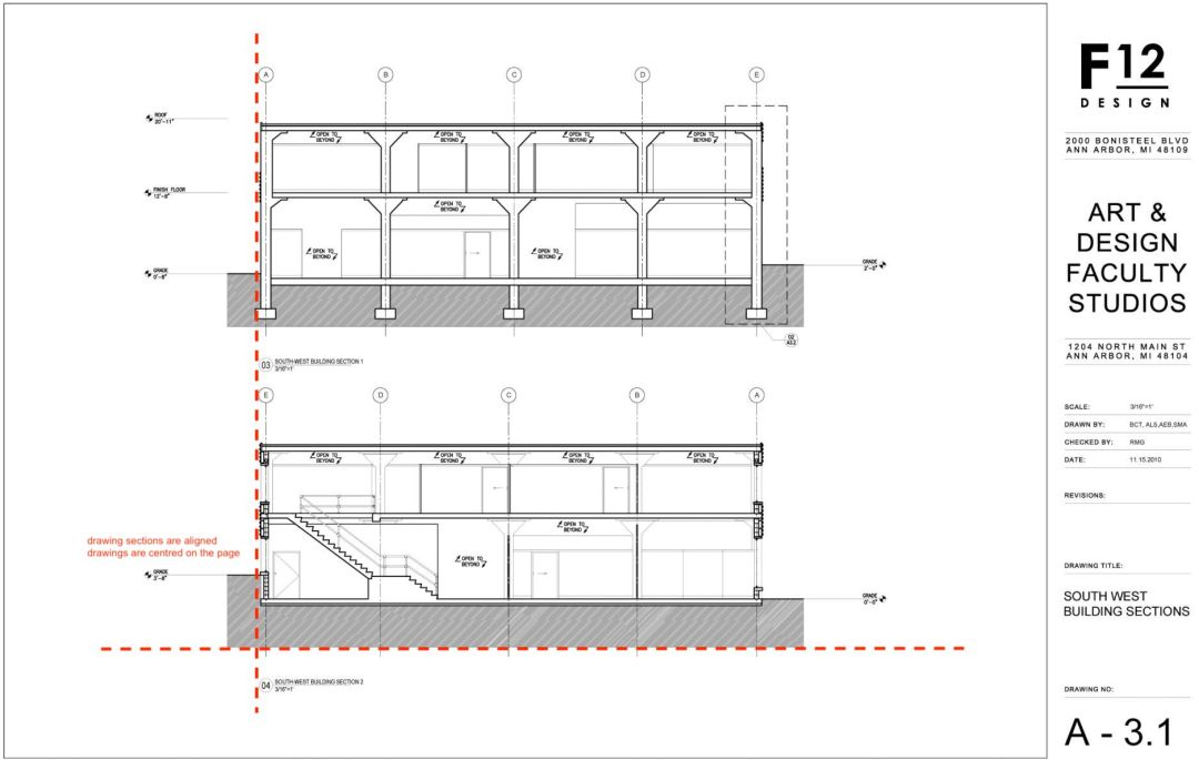 Architecture technical drawing layout 06
