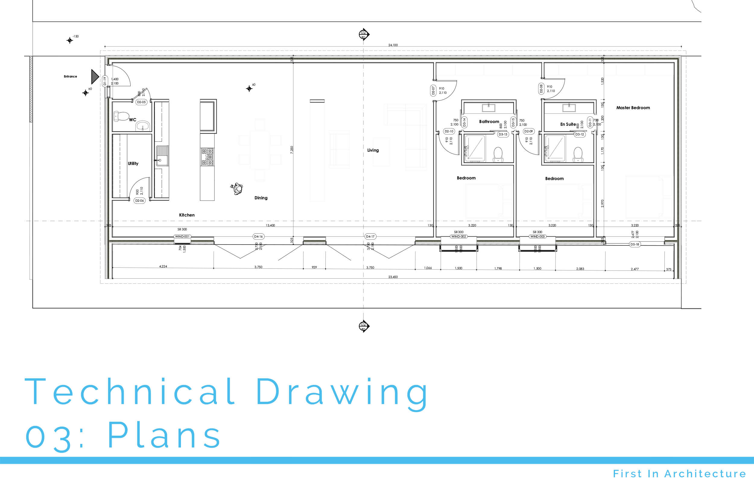 Technical Drawing Plans First In Architecture