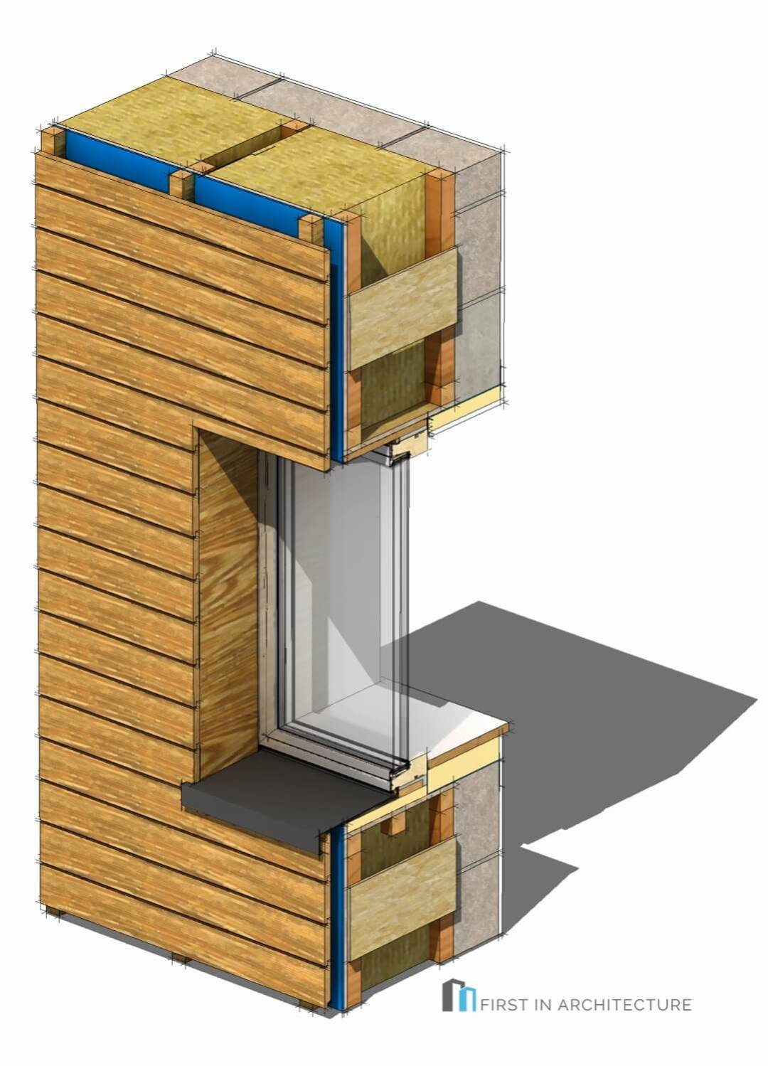 Passivhaus Window Details 3D M22