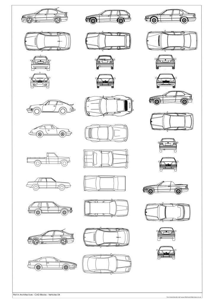 FIA Car CAD Blocks 04