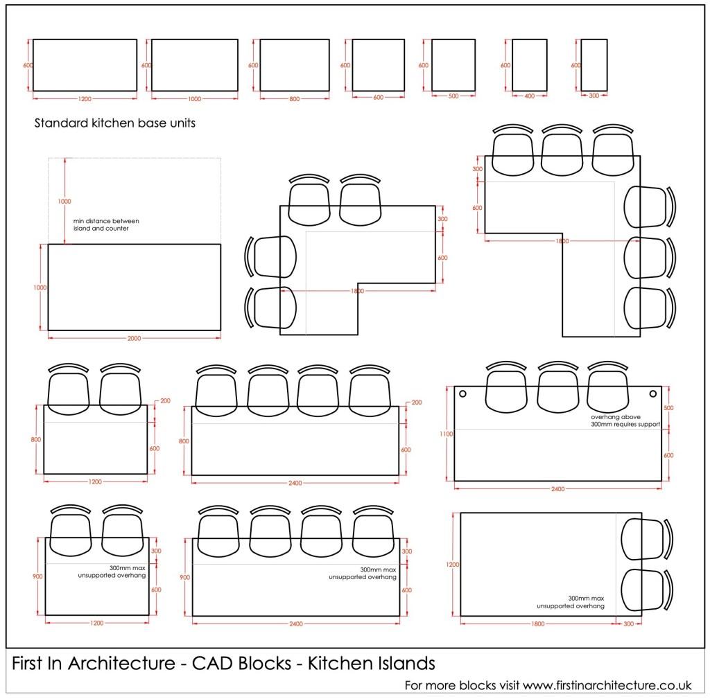 FIA CAD Blocks Kitchen Islands