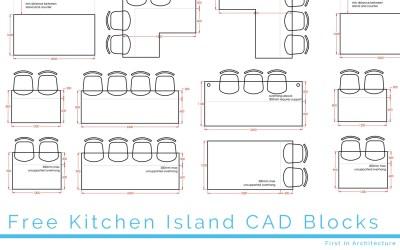Free Kitchen Island CAD Blocks