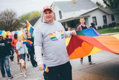 Pat Trewin in parade