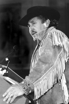 The late Métis leader Harry Daniels, who began the case for non-status Indians in 1999.