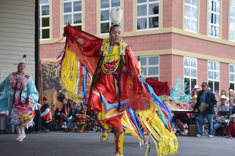 Powwow Dancer at Calgary Stampede.