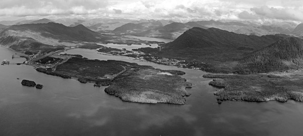 Lax Kw'alaams Band has lived in this area (Prince Rupert) for between 1000 and 6000 years. Credit: Image courtesy of Pacific NorthWest LNG