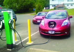 "Car charging station at T'Sou-ke Band Office. Source: <a href=""http://www.tsoukenation.com"" target=""_blank"">www.tsoukenation.com</a>."