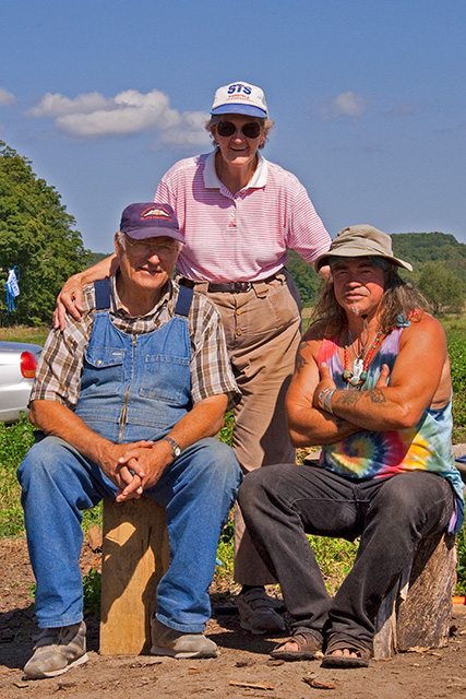 Harold and Ann Boker and Danny in Art Parnel Clover Field Simcoe County Photo Courtesy of J.E.Simpson, 2009