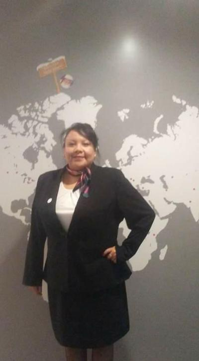 Cheri Royal of the Siksika Nation is looking forward to her new career as a flight attendant