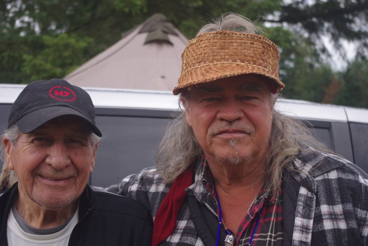 Chief Oren Lyons and Danny Beaton at Traditional Circle of Indian Elders and Youth Gathering Yelm Wash, Aug 2019