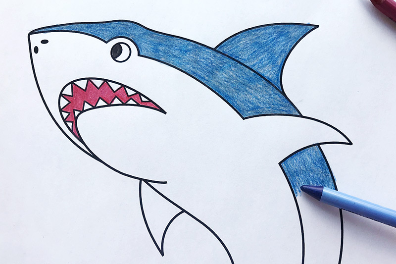 Shark Free Printable Templates Coloring Pages Firstpalette Com