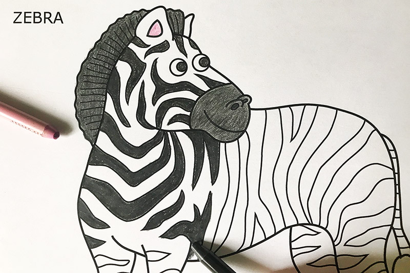 Zebra Free Printable Templates Coloring Pages Firstpalette Com
