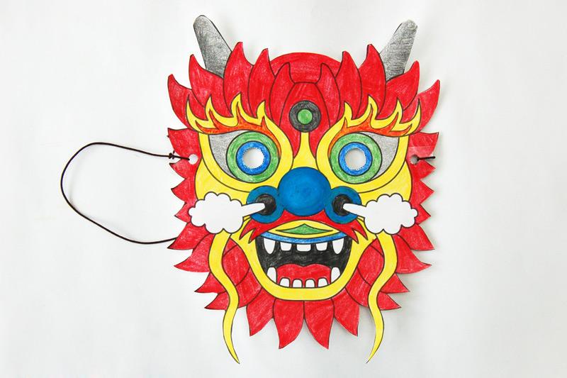 Chinese Dragon Mask Templates Free Printable Templates