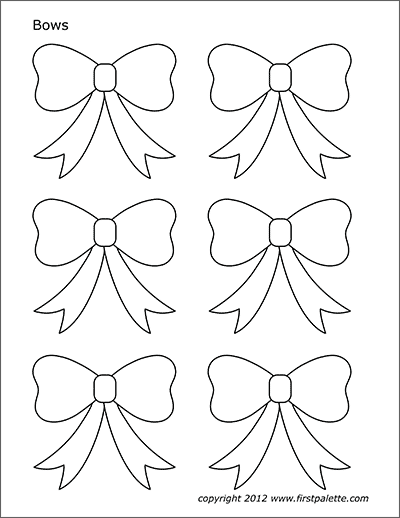 Bows Free Printable Templates Coloring Pages Firstpalette Com