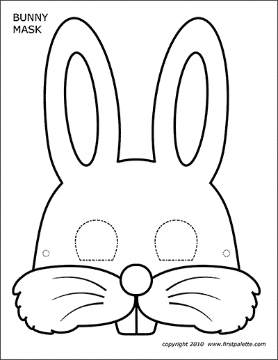 Bunny Masks Free Printable Templates Coloring Pages