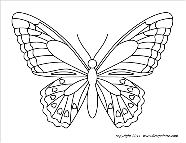 Butterflies Free Printable Templates Coloring Pages Firstpalette Com