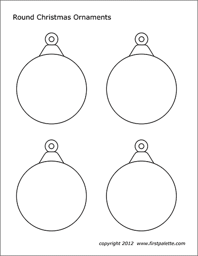 Christmas Tree Ornaments Free Printable Templates Coloring Pages Firstpalette Com