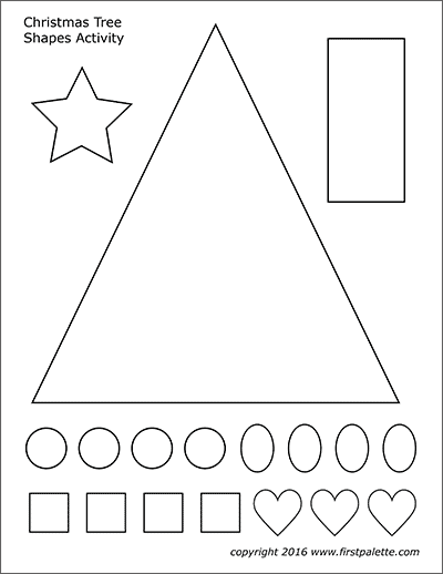 Christmas Tree Shapes Activity Template Free Printable