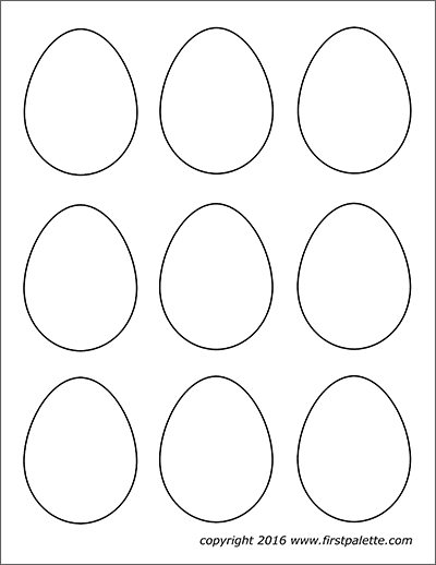 Easter Eggs Free Printable Templates Coloring Pages Firstpalette Com