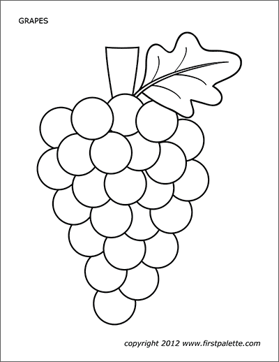 Grapes Free Printable Templates Amp Coloring Pages