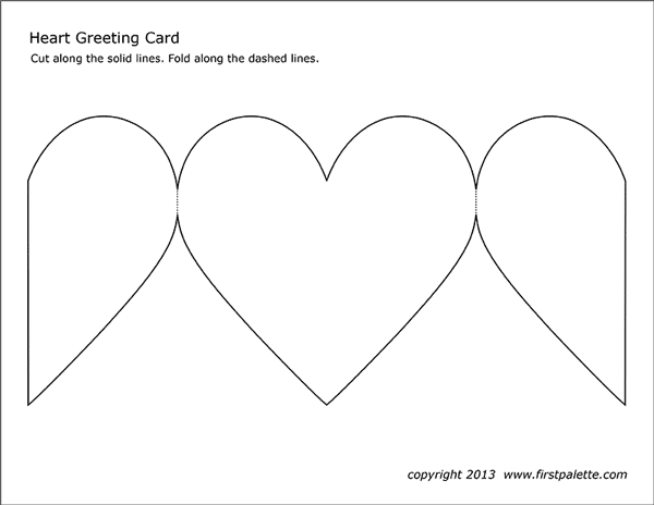Heart Greeting Card Free Printable Templates Amp Coloring