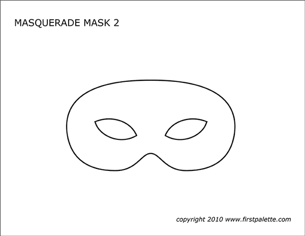 Masquerade And Mardi Gras Mask Templates Free Printable