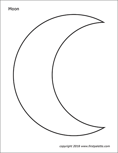 Moon Free Printable Templates Coloring Pages Firstpalette Com