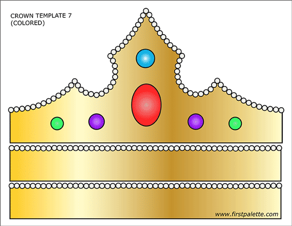 Prince And Princess Crown Templates Free Printable Templates Coloring Pages Firstpalette Com