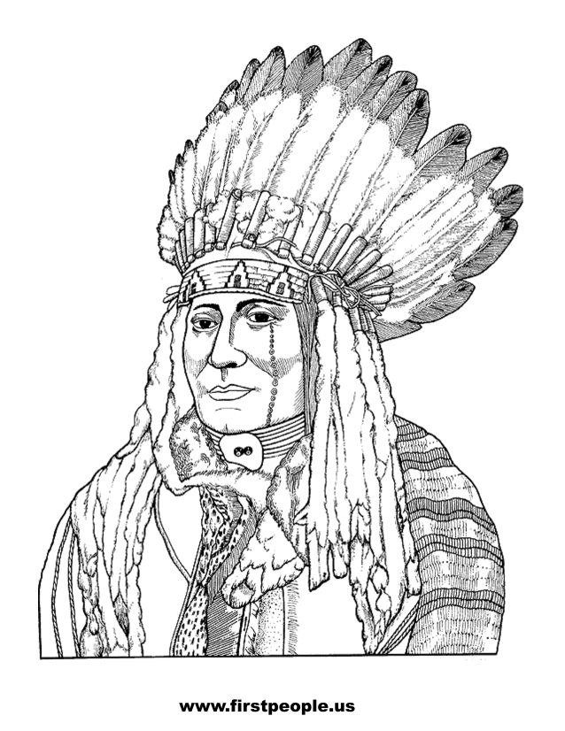 native american clipart to color in (page 2)