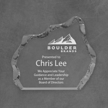 Clear Acrylic iceberg award