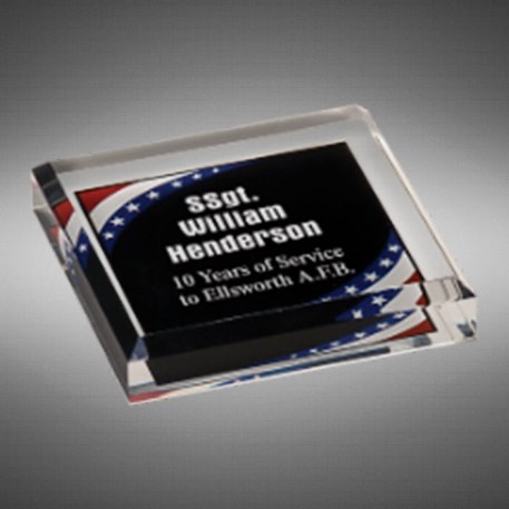 Milano Paperweight Stars and Stripes Americana