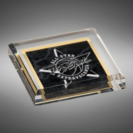 Milano Paperweight Black Marble