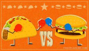 hambugers vs tacos