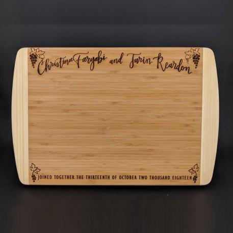Bamboo Cutting board 2 tone