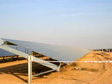 A solar power plant in Bikaner, Rajasthan. The land was acquired from a firm owned by Vadra. Raman Kripal/ Firstpost