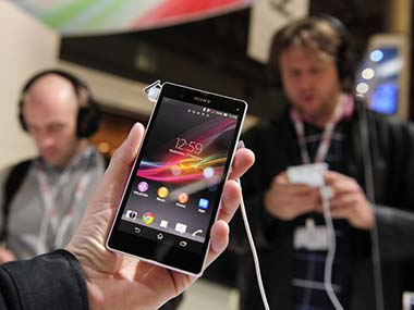 The Sony Xperia Z in this file photo. AFP