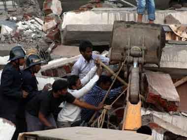 Building collapse in Mumbra. PTI