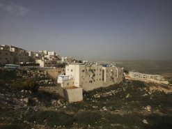 General view of the east Jerusalem neighborhood of Ramat Shlomo. AP
