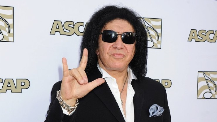 Kiss bassist Gene Simmons. Image from Twitter/@Variety.
