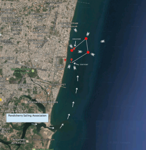 The route map for the Puducherry Regatta