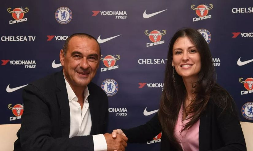 Maurizio Sarri was announced as the new Chelsea manager on Saturday. Image courtesy: Chelsea website
