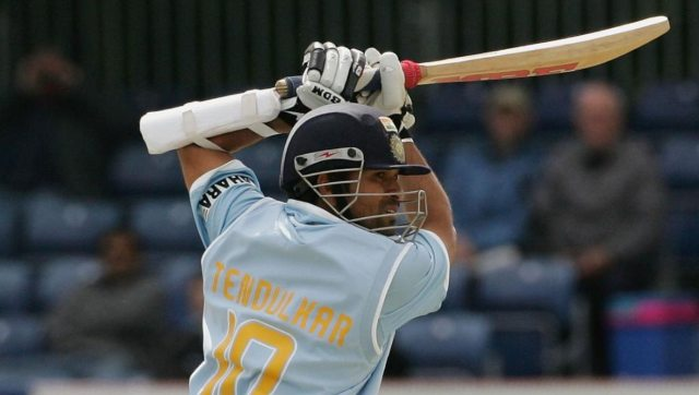 Sachin Tendulkar became the first batsman to score 15,000 runs on 29 June, 2007 in an ODI against South Africa. Image: Twitter/@ICC