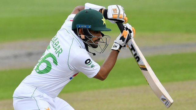 Pakistan's Babar Azam in action against England. AP