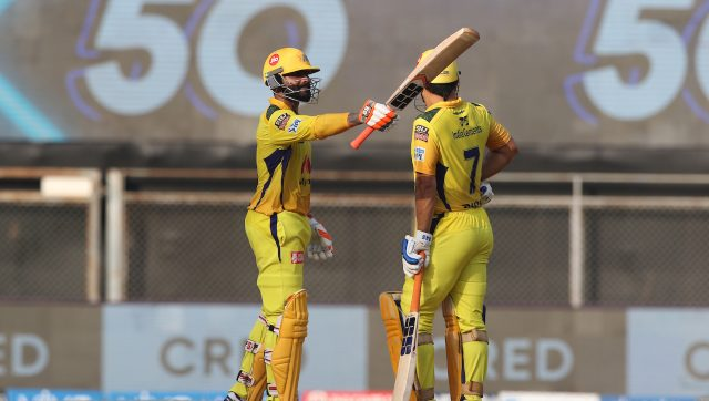 Ravindra Jadeja smashed 36 runs in the last over of the innings, making 62 in total of 28, as CSK scored 191/4 in 20 overs. Image: Sportzpics