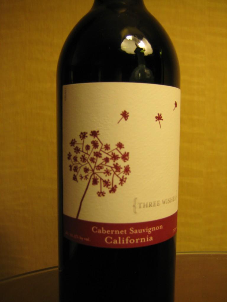 Three Wishes Cabernet Sauvignon First Pour Wine